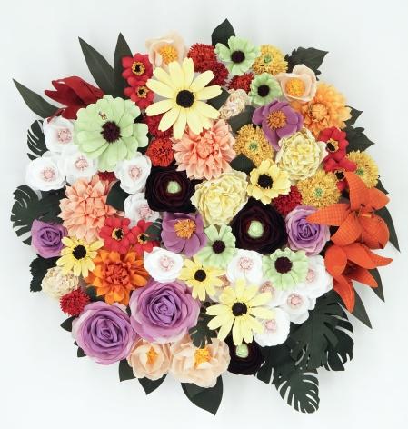 CARLTON SCOTT STURGILL, Arrangement in Sunflowers, Dahlias, Tiger Lillies, and Black-Eyed Susans, 2021