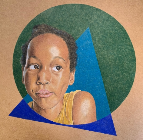 ADRIENNE BROWN-DAVID  Golden, 2019  colored pencil on paper  12h x 12w in