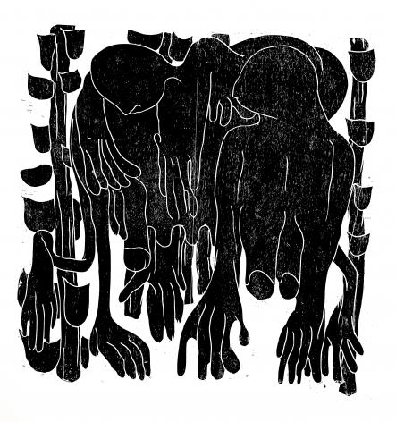 BARBARA KUEBEL, Carrying a larger idea/ colour black, 2021