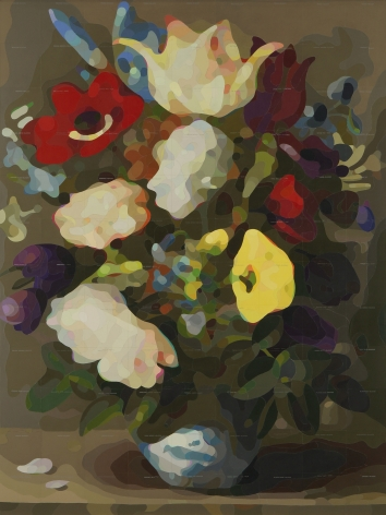 CARLTON SCOTT STURGILL, Flowers in a Porcelain Wan-Li Vase (after Osaias Beert the Elder), 2021