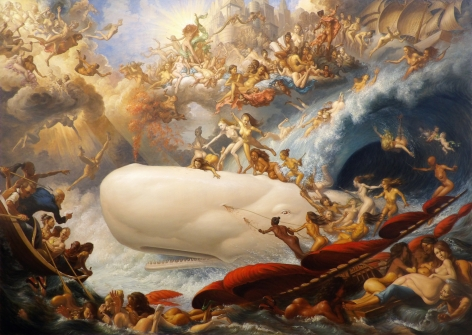Micharl Tole, The Triumph of Venus and Galatea Over Moby Dick, 2020