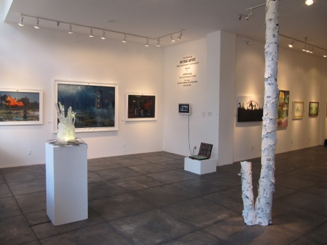 NO DEAD ARTISTS III 14th Annual National Juried Exhibition of Contemporary Art, [Main Gallery Installtion View]