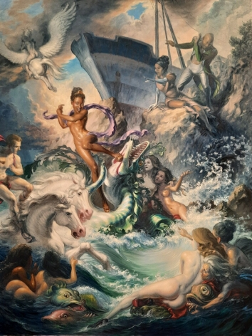 MICHAEL TOLE, Andromeda Slaying the Rocaille Dragon, 2021