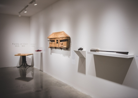 Installation View of #UNLOAD: Guns in the Hands of Artists, The Fairfield University Art Museum