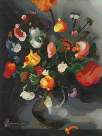 CARLTON SCOTT STURGILL, A Vase with Flowers (after Jacob Vosmaer), 2021