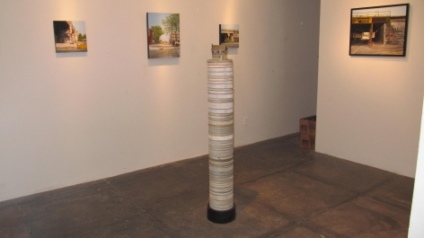 NO DEAD ARTISTS III 15th Annual National Juried Exhibition of Contemporary Art, [Back Gallery Installation View]