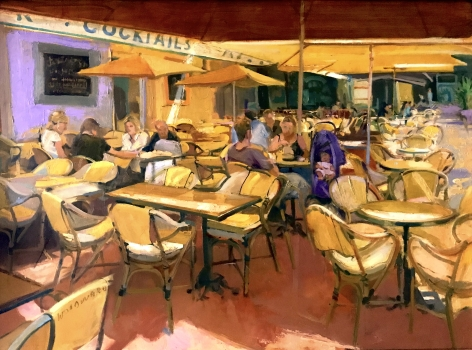 WILLIAM WOODWARD, Cannes Cafe, 2012