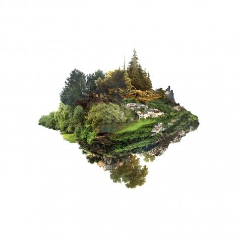 JULIA ROMANO  Cultural Landscapes IV - Caserío, 2017  inkjet print on cotton paper  39.37h x 39.37w in 100h x 100w cm  edition 7/7