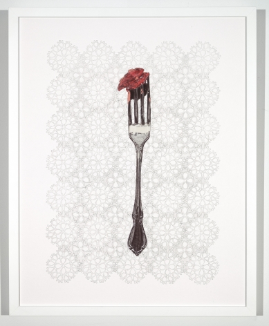LAURA TANNER GRAHAM, Cherry | Silver | Lace, 2020