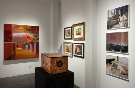 NO DEAD ARTISTS III 17th Annual National Juried Exhibition of Contemporary Art, [Middle Gallery Installtion View]