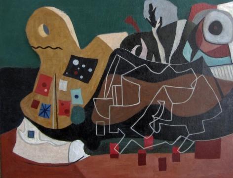 PAUL NINAS Untitled (Geometric Abstraction),c. 1945