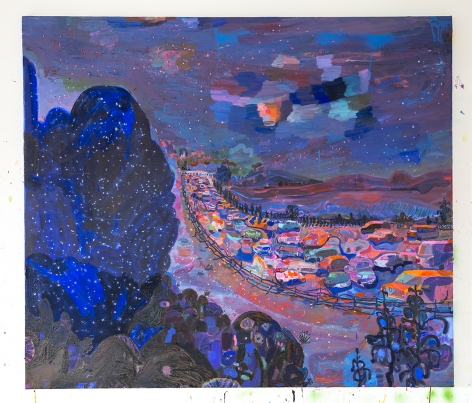 LISA SANDITZ Northern Border Blue, 2016