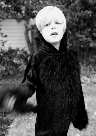 MARCUS KENNEY, Evan in Black Fur, 2011