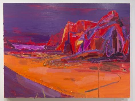 LISA SANDITZ, Purple Mountains, 2015
