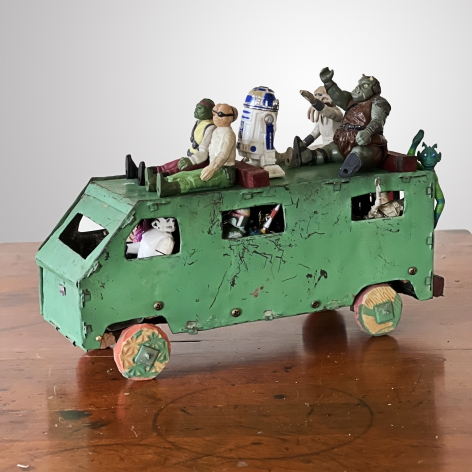 KAT FLYN, Busload of Aliens Heading for the Border, 2021