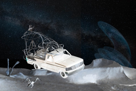 BRIAN ST. CYR  Space Truckin, 2020  digital collage on archival photo paper  24h x 36w in