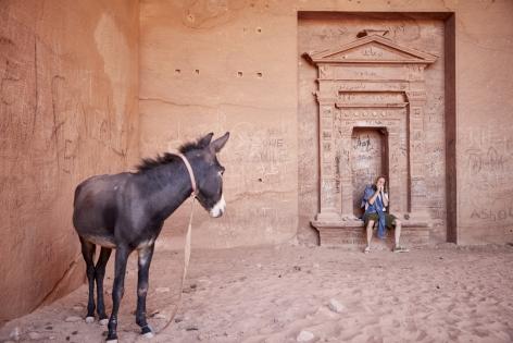 Ted RiedererrecordsSJ Downes performingin a cave at Petra forNever Records: Culture not Conflict, Amman Jordan.