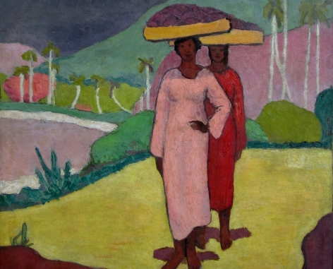 PAUL NINAS Untitled (Two Women with Baskets), unknown