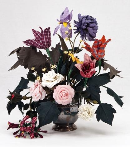 CARLTON SCOTT STURGILL, Vase with Roses, Honeysuckle, and Pheasant's Eye, 2021