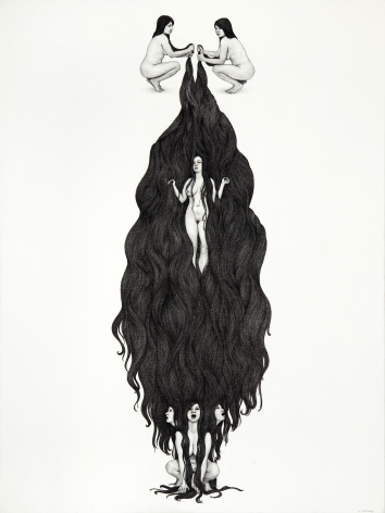 MONICA ZERINGUE, Ophelia Descending, 2012
