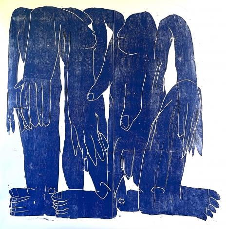 BARBARA KUEBEL, Changing the shape/ colour blue, 2021