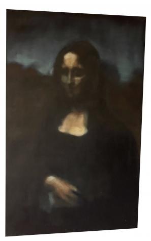 Christopher Fitzwater, Black Rainbow (Mona Lisa) (2021)