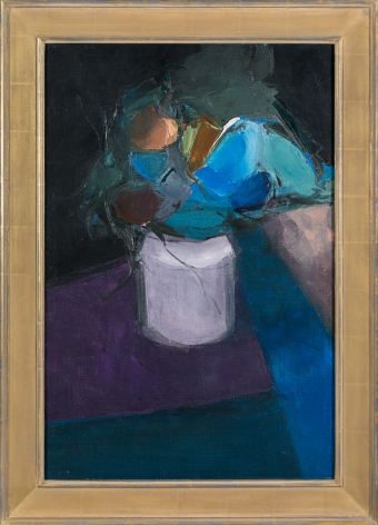 Donald Hamilton Fraser, Table with Blue Flowers , 1957
