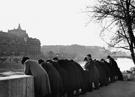 FredStein Leaning over Railing, Paris