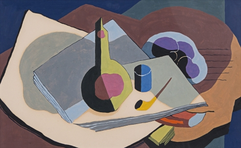 Still Life with Pipe and Bottle, 1934
