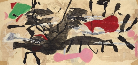 Perle Fine,Printed Collage #2, 1959