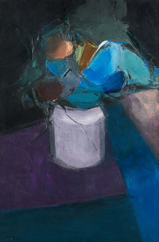 Table with Blue Flowers, 1957