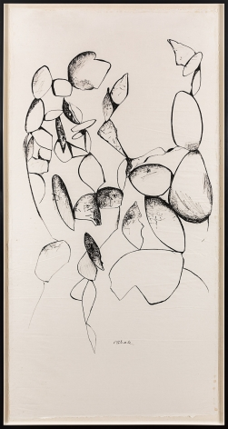 Untitled (Scroll #06), c. 1970s, Ink on Japanese paper mounted on muslin