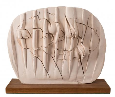 Rock Drawing: Duchess of Alba, 1955-60, terracotta