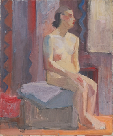 Untitled (seated nude), c.1920s, Oil on canvas