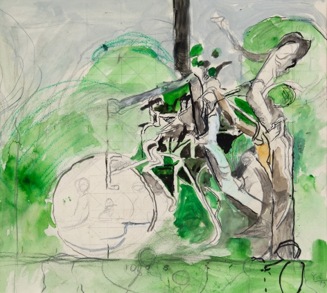 Graham Sutherland Study for Three Forms, 1979