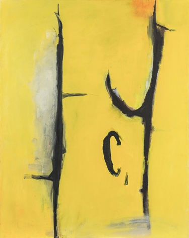 Yellow Experiment, c. 1950-1960s, Oil on canvas
