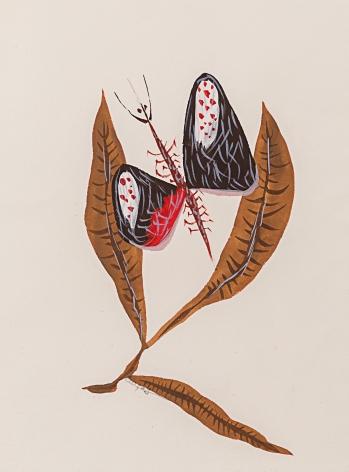 Feuilles et papillon, 1950s