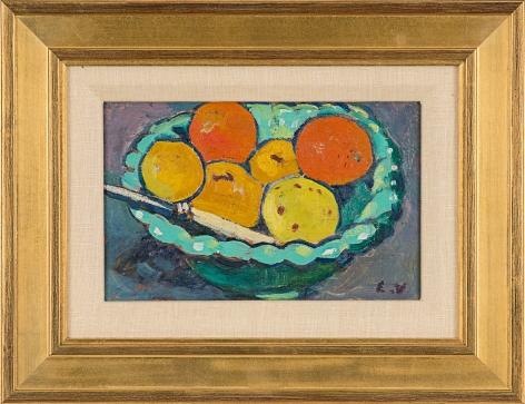 , Coupe verte, oranges et citrons, 1909 (framed)