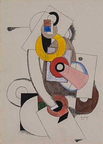 Joseph Csaky Composition Cubist, 1919