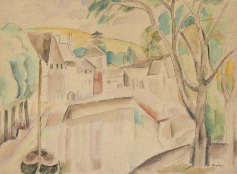 Vue sur le canal, c. 1913