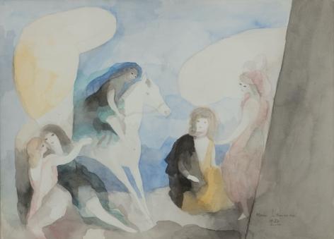 Marie Laurencin,Groupe de femmes et un cheval, 1927