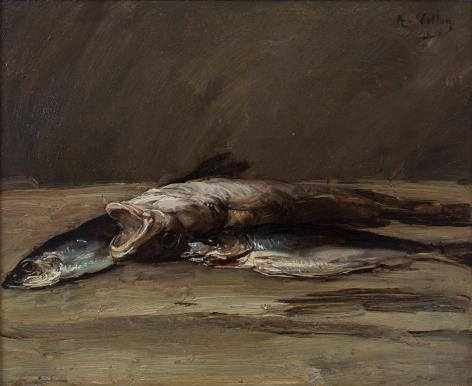 Antoine Vollon Nature morte au lieu et aux maquereaux, Late 19th century