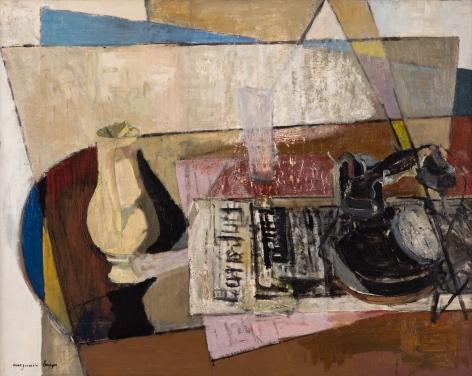 Marguerite Louppe Telephone, Newspaper and Vase, c. 1940
