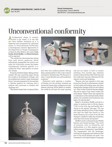 Unconventional Con'form'ity featured in American Art Collector