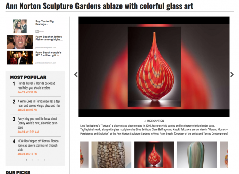 Murano Mosaics in Palm Beach Daily News