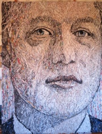 Gugger Petter Unveils Bill Clinton Portrait at Danish Embassy