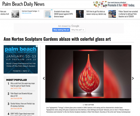 Murano Mosaics in Palm Beach Daily News