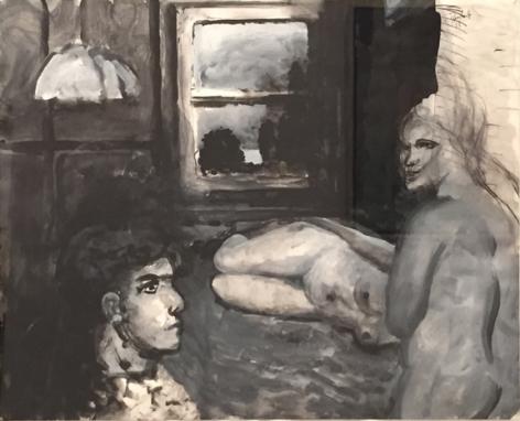 Elmer Bischoff, Three Models, 1973