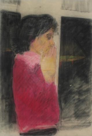 Peter Saul  Portrait in a Fuschia Shirt, 1957