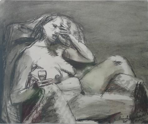 Elmer Bischoff, Seated Nude, 1965